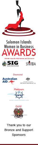 Sponsors of the Solomon Islands Women in Business Awards, 2016